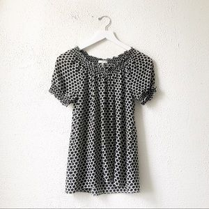 Joie | Black & White Patterned Blouse XS
